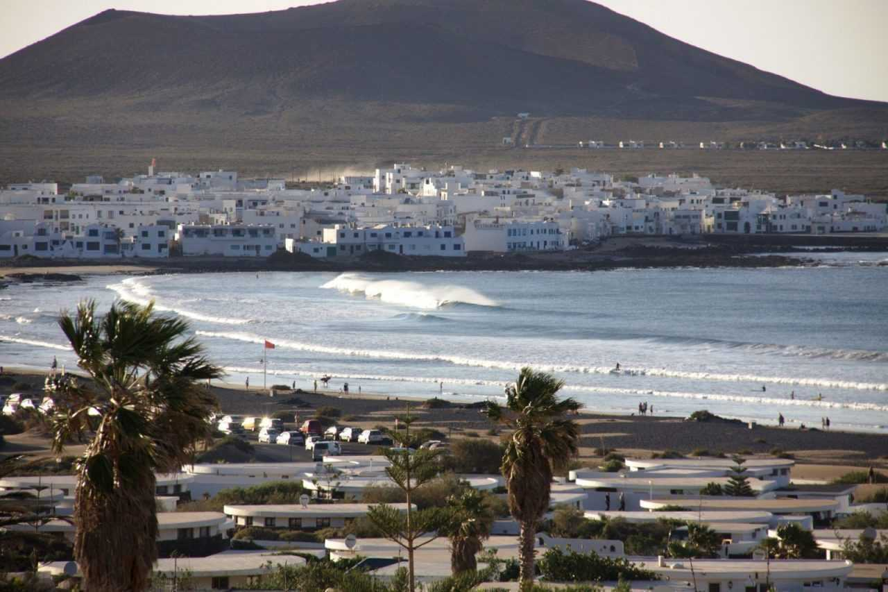 View on the bay of Caleta de Famara, Lanzarote