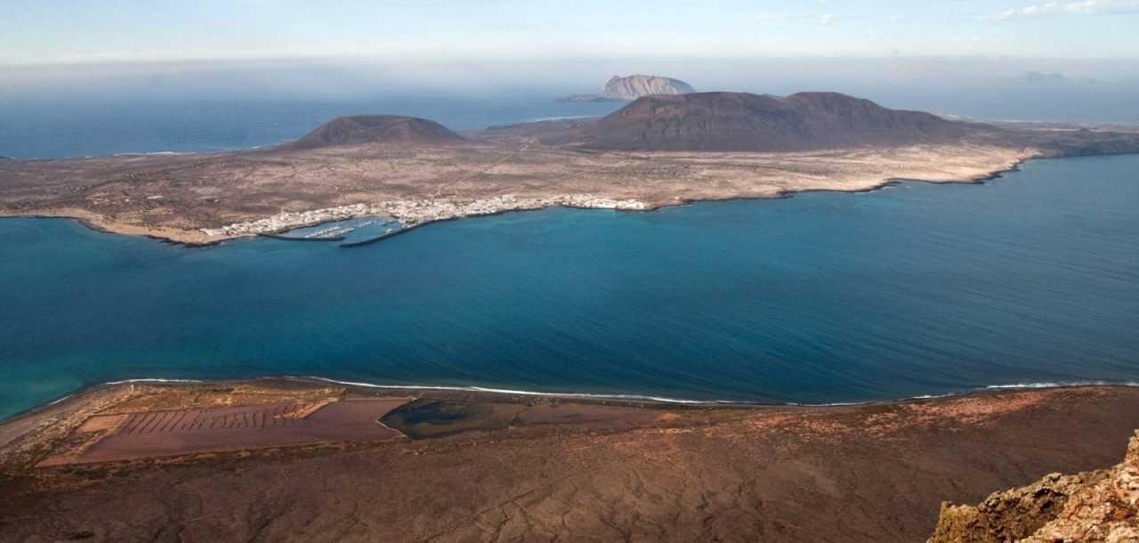 View from Lanzarote on La Graciosa