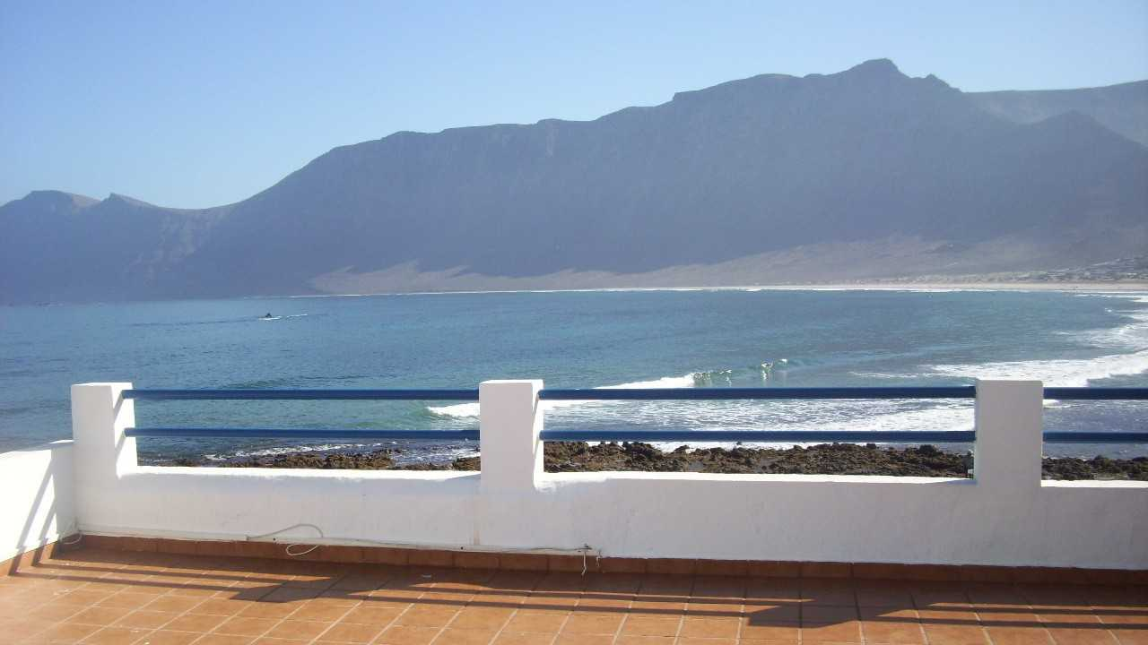 view from the terrace famara apartment with sea view