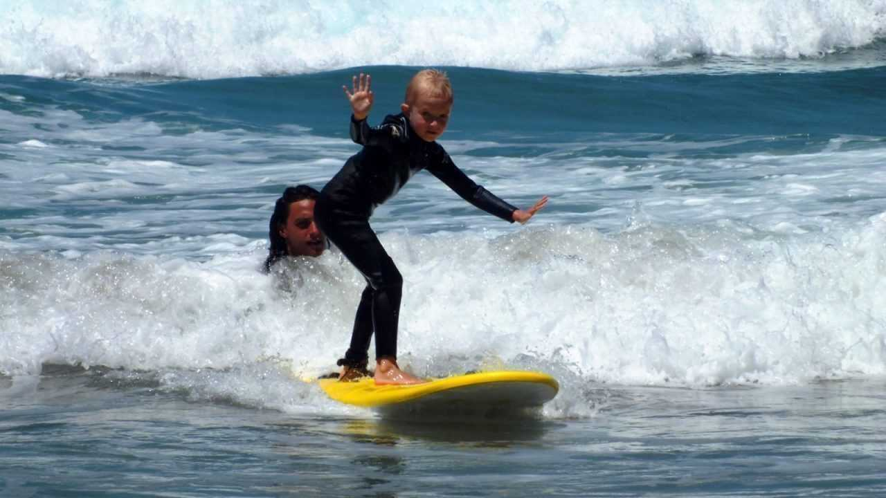 surf lesson children