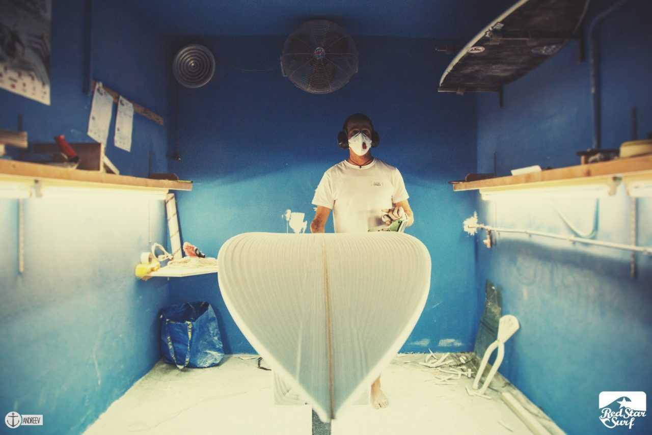 Surf Geschichte La Santa Surfboard Fabrik Shaper Mark Phipps