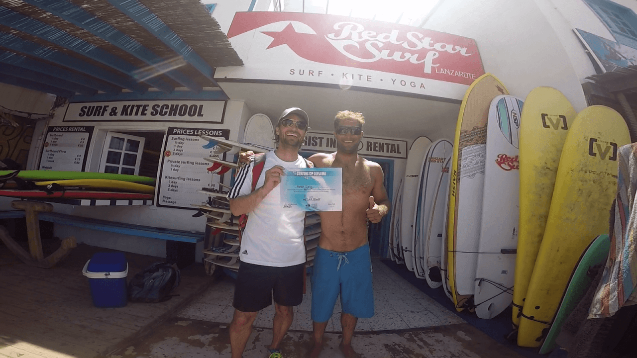 surf school Famara surf shop go pro