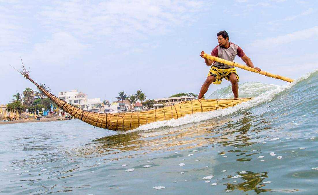 Кабалитос де тотора - лодки из тростника на Гавайях - История серфинга