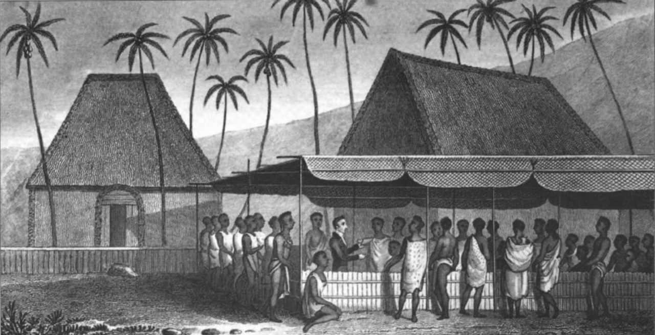 Проповедь священника перед гавайцами - История серфинга