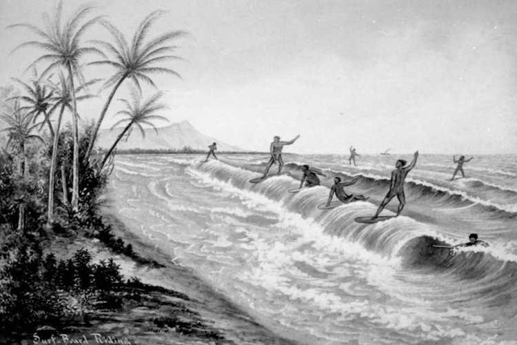 Surf Geschichte Hawaiianische Surfer