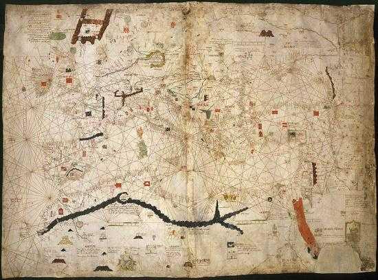 Атлас Дульсерт - европейская карта, на которую впервые был внесен Лансароте - История Лансароте