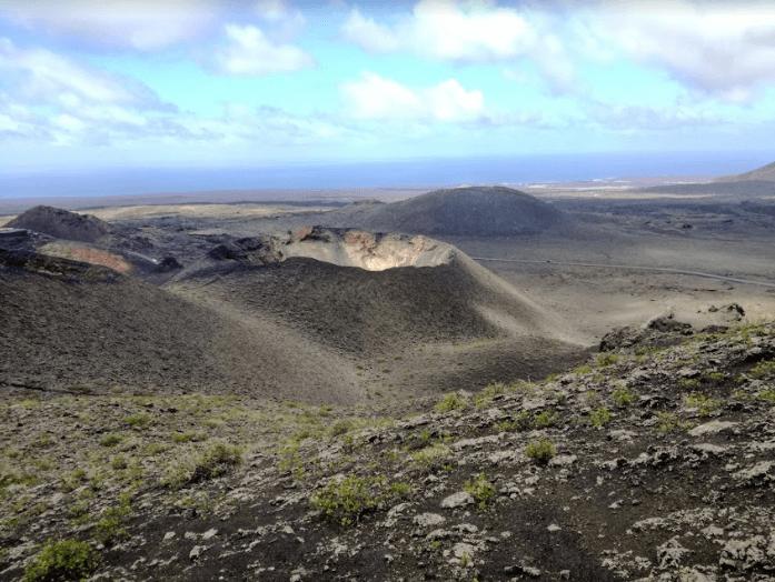 Lanzarote Geschichte Aussicht über den Timanfaya National Park